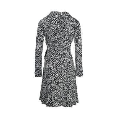 python pattern collar wrap dress